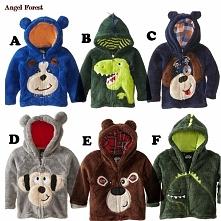 hot sale 2015 children's clothing boys girls Dinosaur Hoodie Fleece cartoon dog kids sweaters jackets baby coats
