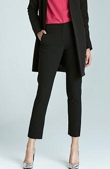 Nife SD22 spodnie czarny Stylowe spodnie, po bokach kieszenie, zapinane z prz...