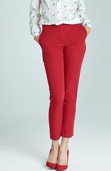 Nife SD22 spodnie czerwone Stylowe spodnie, po bokach kieszenie, zapinane z p...
