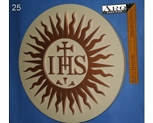 Hostia JHS 56cm (Pierwsza Komunia, Boże Ciało) Materiał - pianka xps (styrodu...