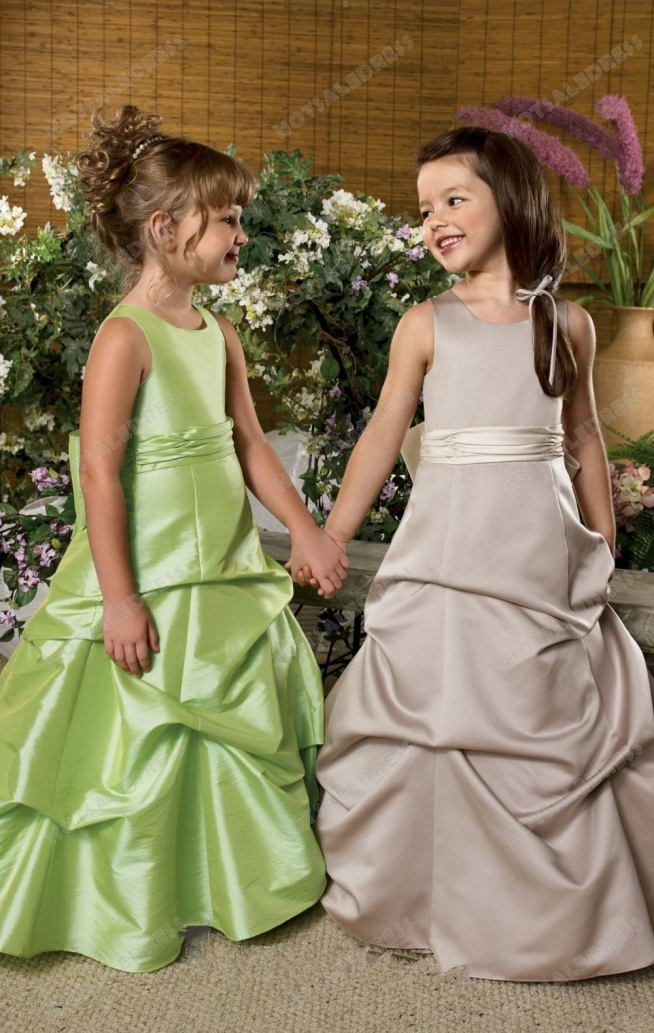 Bustled Satin Gown By Jordan Sweet Beginnings Collection L820