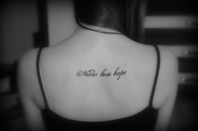 Never Lose Hope Na Tattoo Zszywkapl