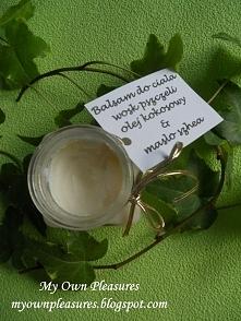 DIY Balsam z masłem shea i woskiem pszczelim  myownpleasures.blogspot.com