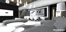 salon i jadalnia - szare wnętrza | ARTDESIGN PERFORMANCE