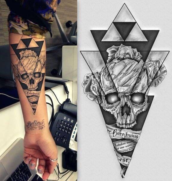 Czaszka Na Tatuaże Zszywkapl