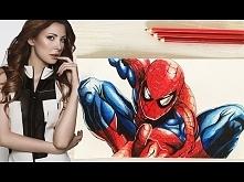 Modelka maluję Spidermana:)
