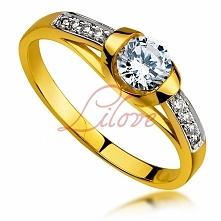 Złoty pierścionek zaręczynowy TAK Lilove