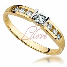 """Złoty pierścionek Lilove Cubic """"TEGO CHCEMY"""""""