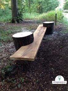 siedziska i ławka na tarasie