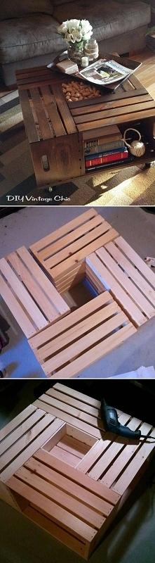 z drewnianych skrzynek