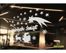 Naklejki Na Szybę  - Dekoracje Świąteczne