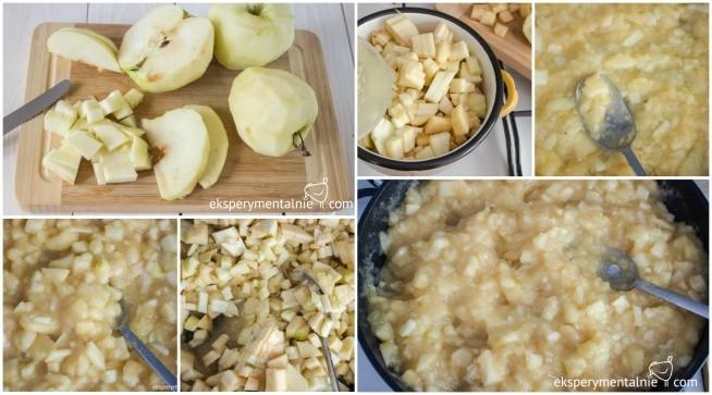 Smażone jabłka na szarlotkę