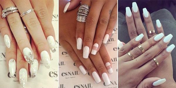 Biały manicure – 12 eleganckich wzorków na paznokcie do ślubu, na wesele i na szczególne okazje