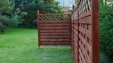 Budowa ogrodzenia drewniane...