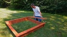 Montaż piaskownicy drewnianej krok po kroku