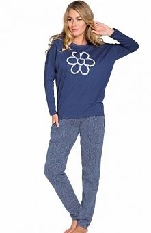 Italian Fashion Elena dł.r. dł.sp. piżama Komfortowa piżama, luźny krój, deko...
