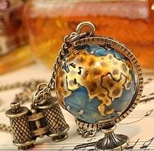 Naszyjnik vintage globus - ...