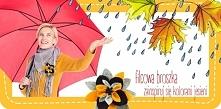Broszka z filcu, idealna na jesień! Kliknij w obrazek, by zobaczyć kurs DIY