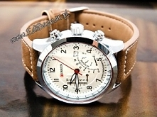 Fajny męski zegarek na skórzanym pasku. Kupiłybyście Waszym facetom? Teraz w ...