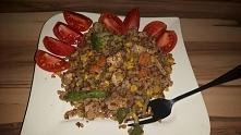 kasza grycczana z kurczakiem i warzywami