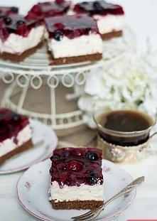 Ciasto Filadelfia (bez pieczenia)   maliny ciasta desery ciasta bez pieczenia...