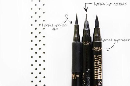Moje ulubione eyelinery od Loreal - porównanie