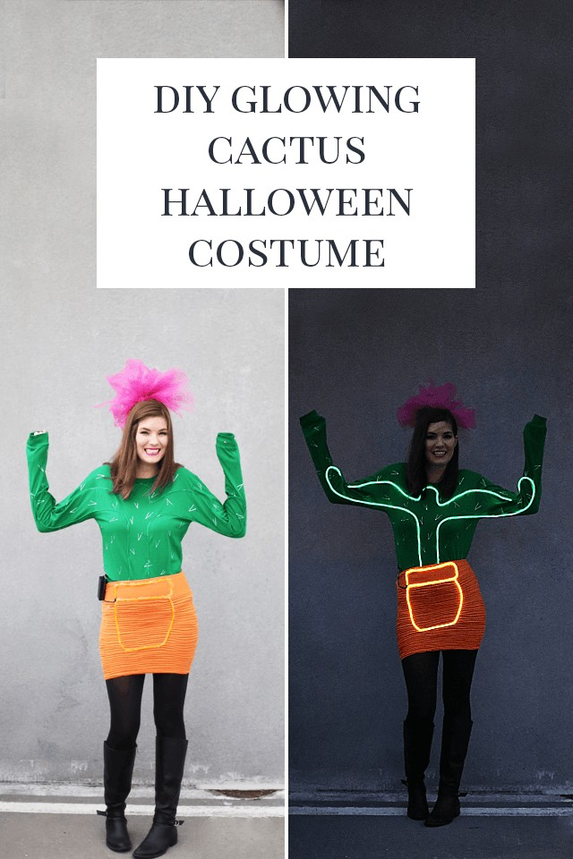 ••Neon Light Cactus Halloween Costume