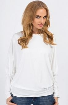 Makadamia 8553 bluzka ecru Świetna bluzka, wykonana z jednolitego materiału, ...