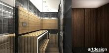 sauna w nowoczesnym apartam...