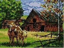 Konie, 38x28 cm