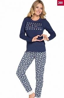 Italian Fashion Amor dł.r. dł.sp. piżama Komfortowa piżama damska Amor, okrąg...