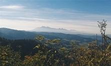 Dzisiejszy widok na nasze piękne Tatry z Wysokiej (Pieniny).