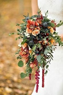 Jesienny bukiet ślubny | Wi...