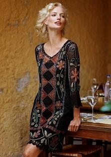 Sukienka szydełkiem - tutorial