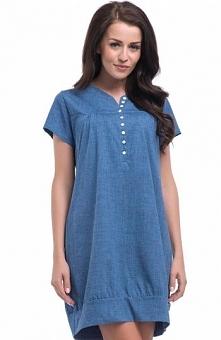 Dobranocka TM.8061 koszulka Komfortowa koszula nocna, krótki rękaw, okrągły d...