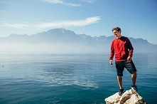 Enjoying the beautiful view in Montreux, Switzerland  Martin Garrix