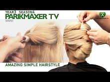 Оригинальная торжественная прическа Amazing simple hairstyle парикмахер тв parikmaxer.tv