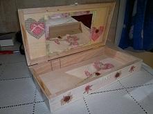 szkatułka, skrzyneczka decoupage