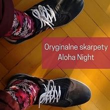 Oryginalne skarpety męskie Aloha Night. Więcej na Style To Go