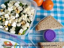 Więcej przepisów na lunchbox do pracy/ szkoły na blogu: kolorowy-swiat-magdy.blogspot.com