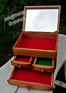 Szkatułka z szufladkami- zd...