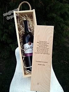 Pudełko na wino z dedykacją...