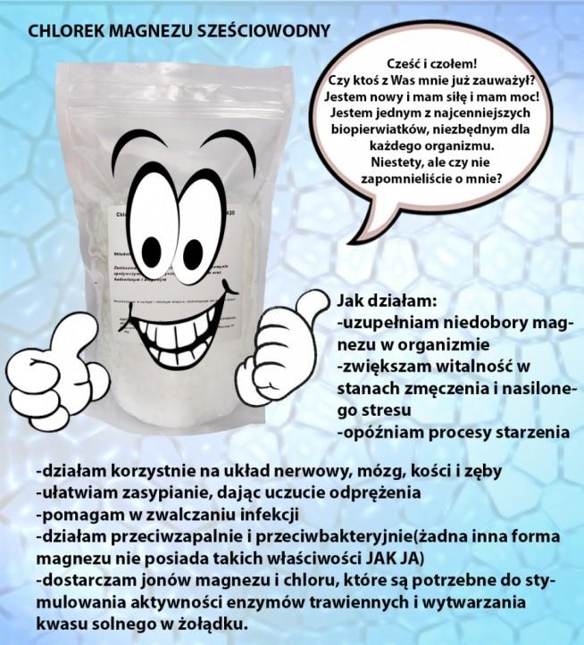 Chlorek magnezu sześciowodny można stosować do kąpieli relaksacyjnych jak również do pięlęgnacji np. stóp. Naprawdę działa. Poczuj się jak KLEOPATRA :)