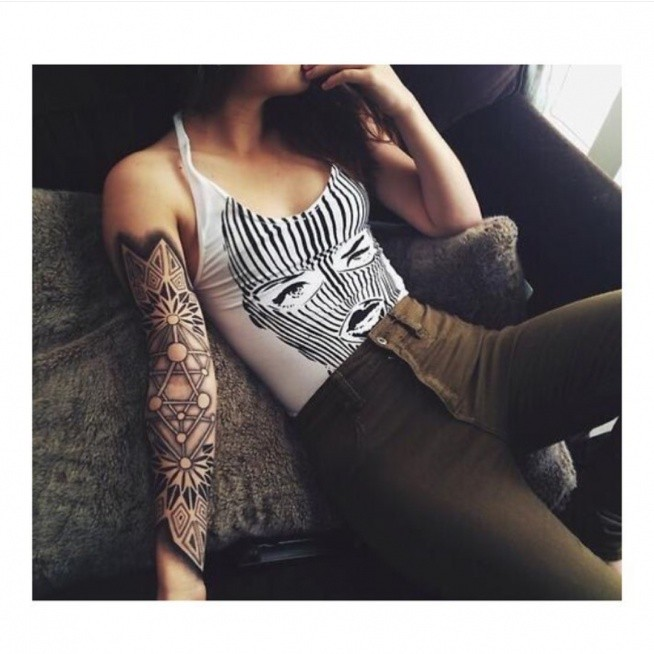 100 arm tattoo designs for girls - 500×498