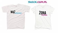 Koszulki dla par zakochanych / koszulki dla dwojga - modne koszulki z napisami i koszulki z nadrukiem dla NIEJ i dla NIEGO - komplety koszulek walentynkowych dla zakochanych - ś...