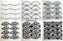Zentangle tutorial wzór wachlarz