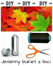 DIY: Jesienny bukiet z liści