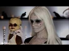 Rozbita porcelanowa lalka - hallowenowy maeup ;)