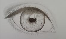 Nad czym mam popracować przy rysowaniu oczek ? :)