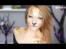 Super prosty makijaż na Halloween - leopard :)